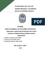 MECÁNICA DE FLUIDOS INFORME 6