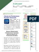Cálculo de Prestaciones Sociales Venezuela _ actualidad-24.com