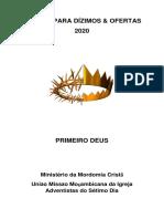 Leitura para dizimos e ofertas 2020
