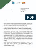 Lettre Pm de B. Klinkert, A. Sander et F. Keller pour la réouverture immédiate des frontières