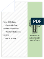 Modelos de Intervencion Psicológica