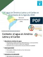 El agua en agenda 2030