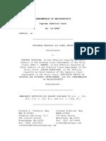 Matorin v Chief Justice, SJC Petition Challenge Mass. COVID-19 Eviction Moratorium