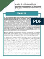 Comunicado Colectivo Redes de Cuidados de Madrid