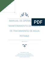 MANUAL DE OPERACIONES Y MANTENIMIENTO DE PLANTA DE TRATAMIENTO DE AGUA POTABLE FINAL.pdf