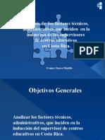 Análisis de  los factores técnicos, administrativos que