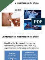 La interacción o modificación del efecto