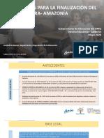 FINALIZACIÓN SIERRA-AMAZONÍA 2019-2020