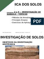Mec Solos_Aula 8 e 9_Investigacoes de Subsolo
