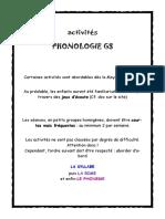idees activités PHONOLOGIE GS