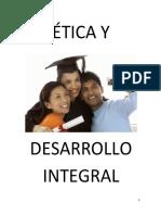 ETICA Y DESARROLLO INTEGRAL