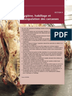 Hygiene HAbillage etv Manipulation des Carcasses