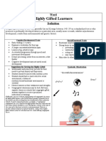 highly gifted graphic organizer