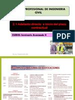 Tema 2 Adelanto Directo e inicio del plazo contractual