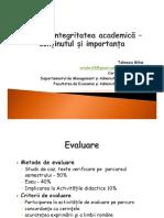 Curs 1 Etică Și Integritate Academică - Conținut Și Importanță