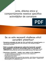 Curs 4 Etica Activităților de Cercetare Științifică