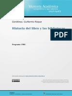 Programa Historia del libro y las bibliotecas-1980