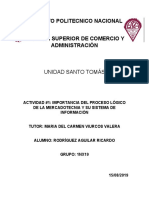 FM_U3_act1_IMPORTANCIA DEL PROCESO LÓGICO DE LA MERCADOTECNIA Y SU SISTEMA DE INFORMACIÓN