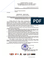 Edaran Rektor Kebijakan WFH_1