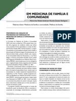 Formaçao em medicina de familia e comunidade
