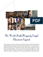 The World Faith/Prosperity Gospel Movement Exposed