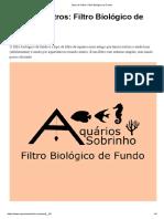 Tipos de Filtros_ Filtro Biológico de Fundo