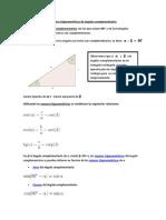 Guía 4 -Razones trigonométricas de ángulos complementarios