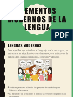 Elementos modernos de la lengua