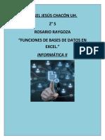 Funciones de Bases de Datos II