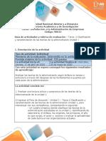 Guía de actividades y rúbrica de evaluación – Unidad 1 -  tarea 2 – Caracterización y clasificación de las teorías de la administración unidad 1 (1)