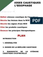 LES STÉNOSES CAUSTIQUES DE L'ŒSOPHAGED2PP.pptx