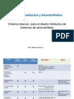 A&A lista de criterios diseño alcantarillado