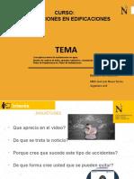 PPT - SEMANA 01- INSTALACIONES EN EDIFICACIONES - UG 2020 1