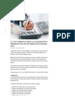 Formatos para la elaboración y presentación de información exógena 2019 - Revista Contamos