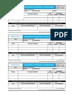RQ SST 011 - 00 Requisição de Material de Segurança