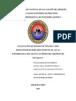 """""""EVALUACIÓN DE DIÓXIDO DE TITANIO COMO REMOVEDOR DE BORO PROVENIENTE DE AGUAS SUBTERRÁNEAS DEL MANTO ACUÍFERO DEL DISTRITO DE SOCABAYA"""".pdf"""