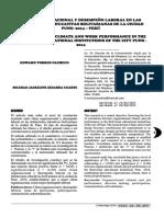 Clima organizacional y desempeño laboral en las instituciones educativas bolivarianas de la ciudad Puno -2014 – Perú