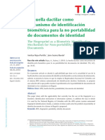 Huella dactilar como mecanismo de identificacion