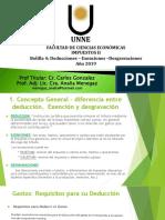 Impuestos II – Bolilla 4 - Deducciones Exenciones - Desgrav -Año 2019 ok.pdf
