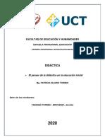 EL PENSAR DE LA DIDACTICA EN LA EDUC INICIAL - JVTB