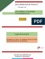 N04I 1A -El texto formal- ciclo agosto 2019