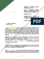 EJEMPLO RECURSO DE APELACIÓN MEDIDA CAUTELAR