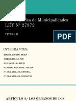 Ley Orgánica de Municipalidades LEY Nº 27972 (1)