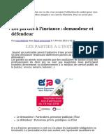 Les_parties_à_l'instance__demandeur_et_défendeur_-_Cours_de_droit