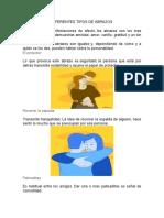 DIFERENTES TIPOS DE ABRAZOS