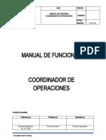 MANUAL DE FUNCIONES - COORDINADOR DE OPERACIONES