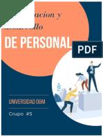 CAPACITACION Y DESARROLLO DE PERSONAL