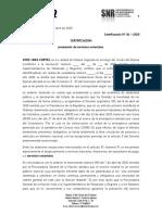 CERTIFICADO  PRESTACION DEL SERVICIO