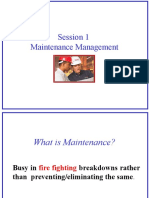 L - 1, Maintenance Fundamentals