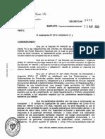 Decreto 455 del gobernador Omar Perotti